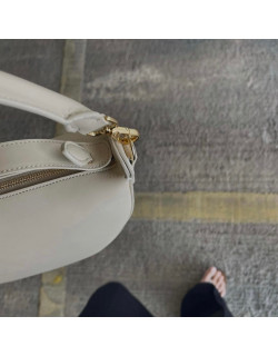 AGNES in sand with golden hardware accents, captured by @samstonestyling  #agneel #agnes #handbag
