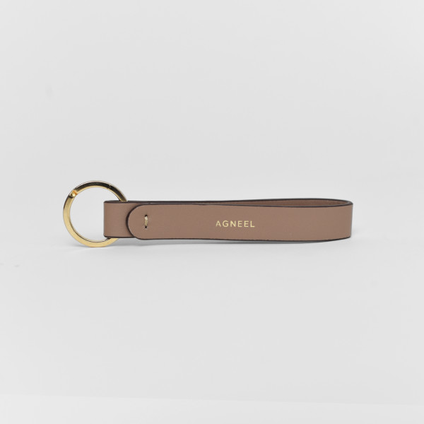 LEATHER KEY RING CAPPUCCINO