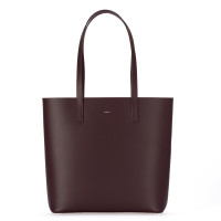 AKRA SHOPPER IN CALFSKIN BURGUNDY