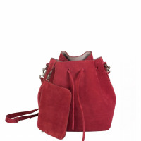 ALESSA DRAWSTRING BAG IN COW LEATHER RUSSET