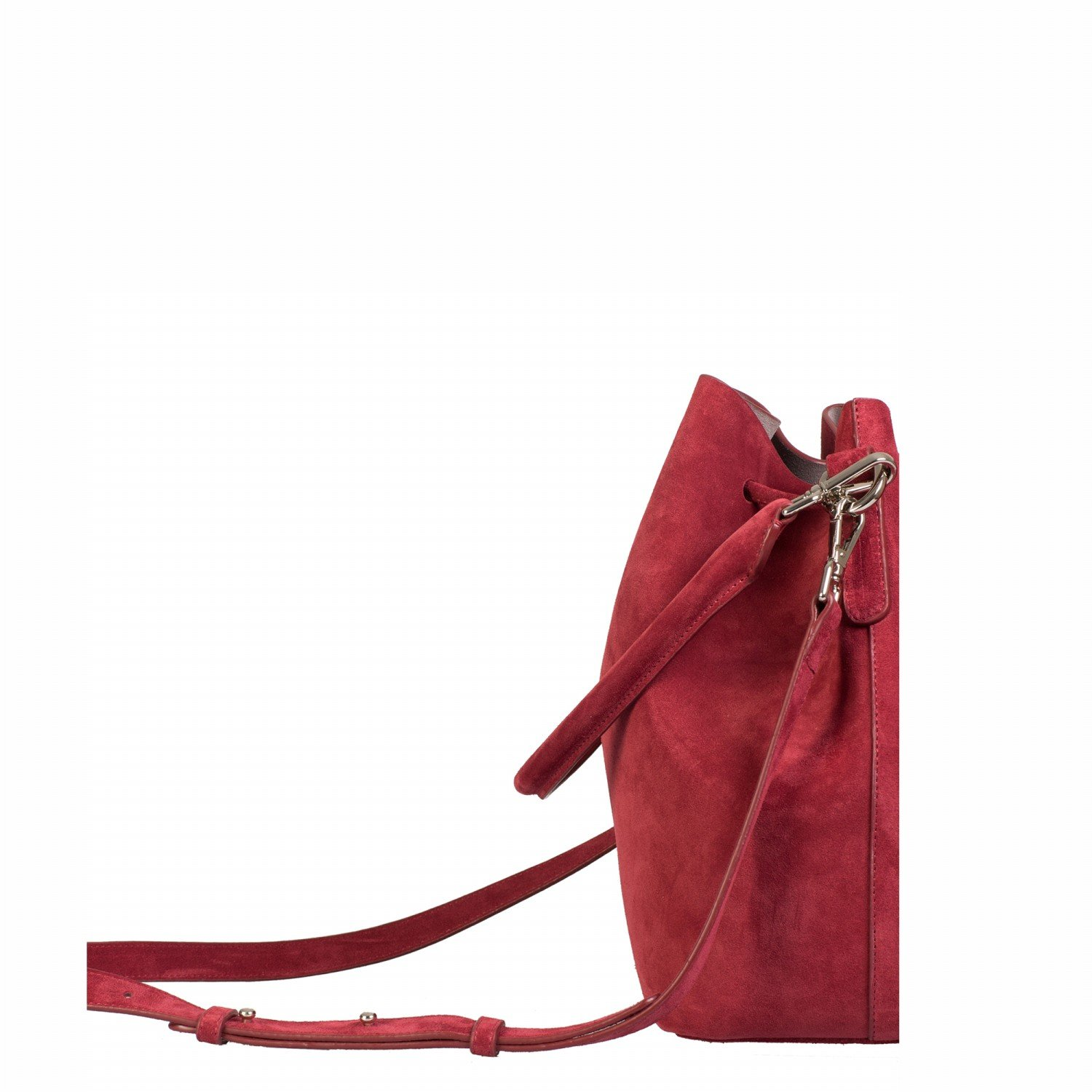 ALESSA DRAWSTRING BAG IN COW LEATHER