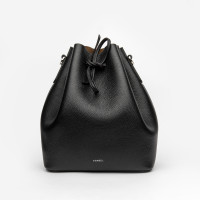 ALESSA DRAWSTRING BAG IN STRUCTURED CALF LEATHER