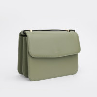 BELLA SHOULDER BAG IN CALFSKIN WITH BRDIGES