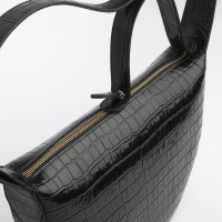 MONA HALF MOON BAG IN  CALFSKIN WITH CROCO DESIGN