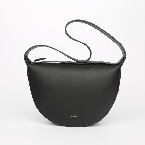 MONA HALF-MOON BAG IN CALFSKIN BLACK