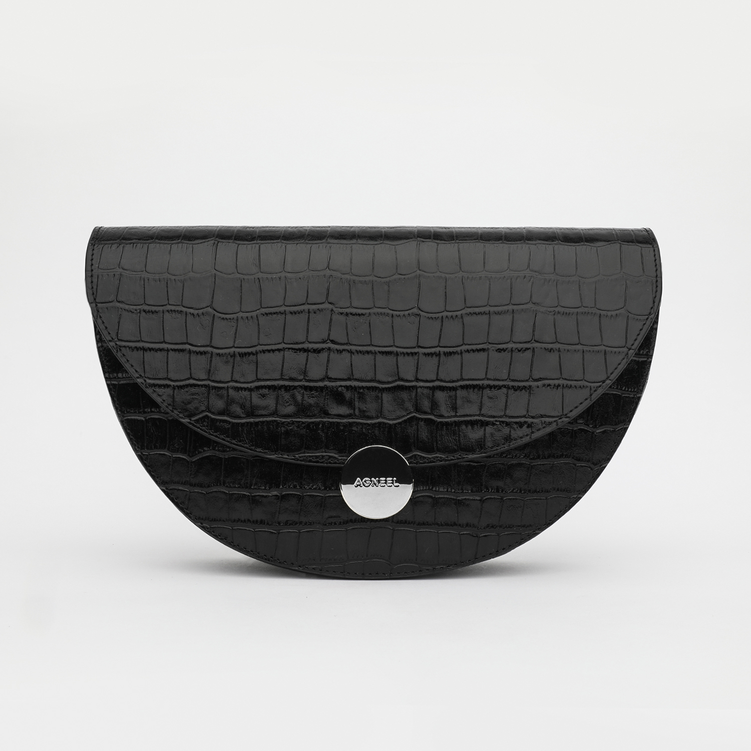 NORA SHOULDER BAG IN CALFSKIN WITH CROCO DESIGN